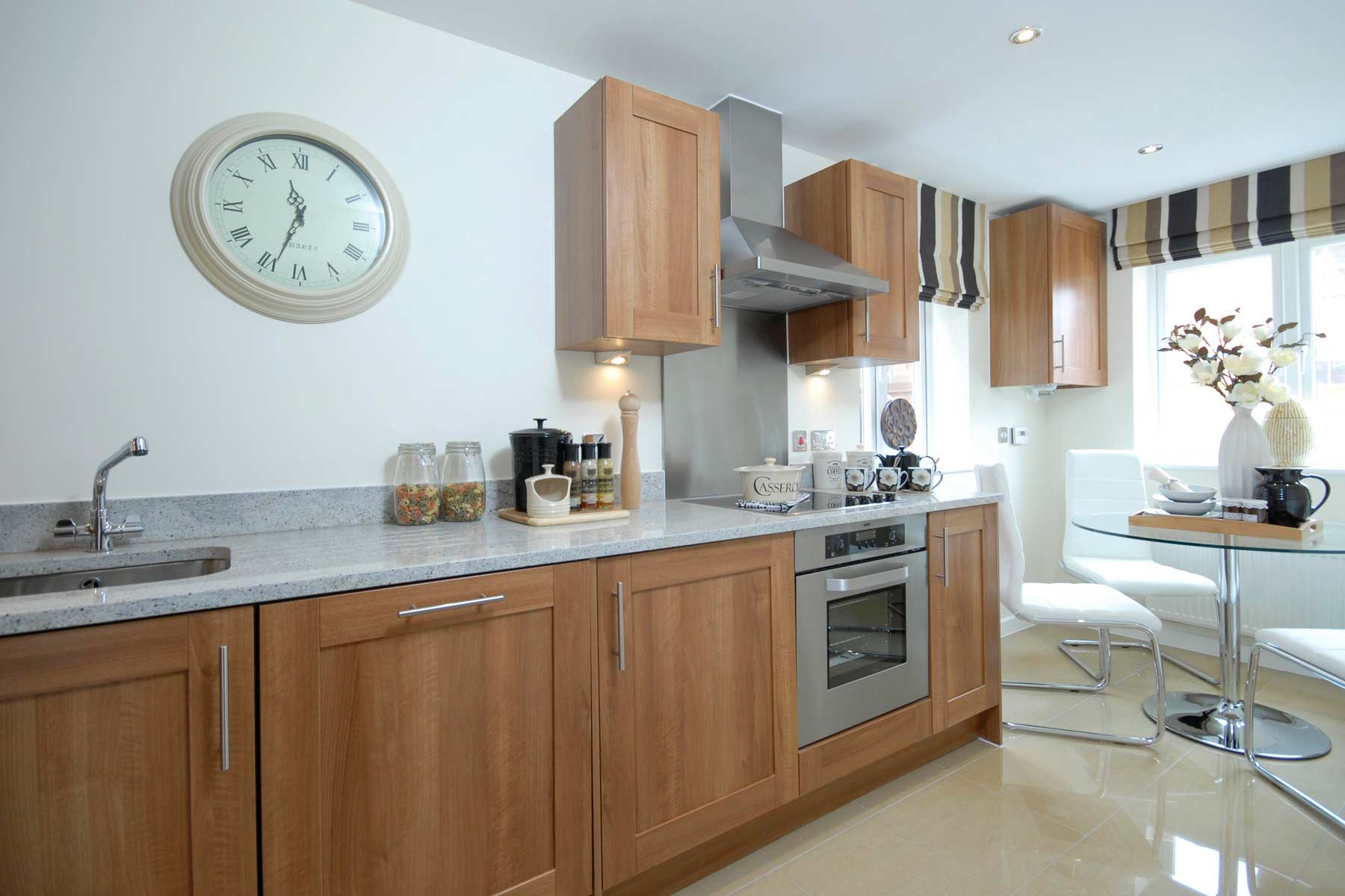 A typical Taylor Wimpey kitchen breakfast room